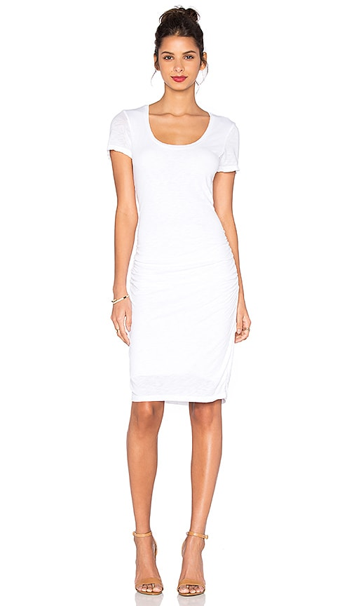 Velvet by Graham & Spencer Dina Lux Slub T Shirt Dress in White