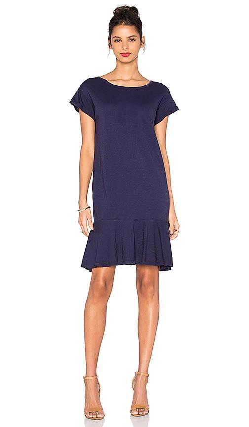 Velvet by Graham & Spencer Salome Cotton Slub Dress in Navy