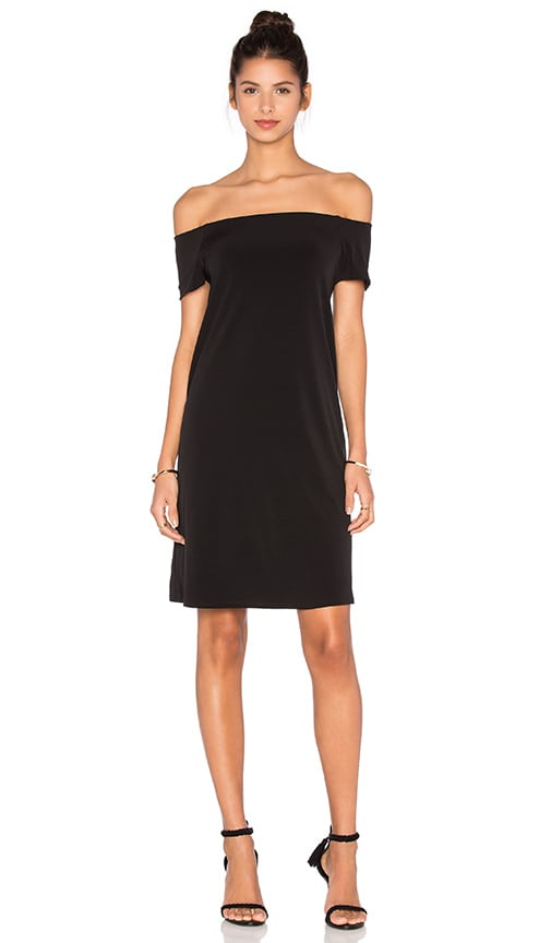 Velvet by Graham & Spencer Sorana Stretch Jersey Off The Shoulder Dress in Black