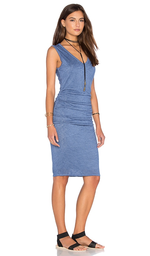 Velvet by Graham & Spencer Orion Textured Knit Tank Dress in Kite