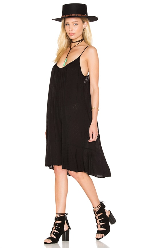 Velvet by Graham & Spencer Kourtney Dobby Challis Shift Dress in Black
