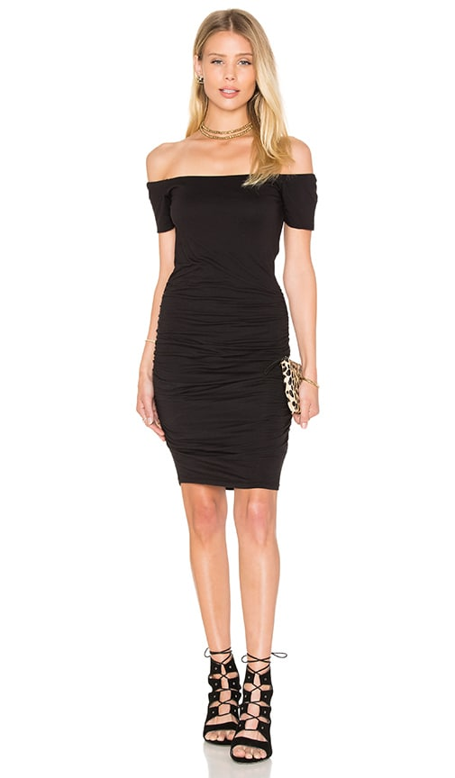 Velvet by Graham & Spencer Mora Gauzy Whisper Bodycon Dress in Black