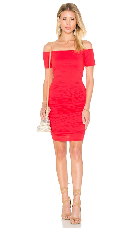 Velvet by Graham & Spencer Mora Gauzy Whisper Bodycon Dress in Snapper