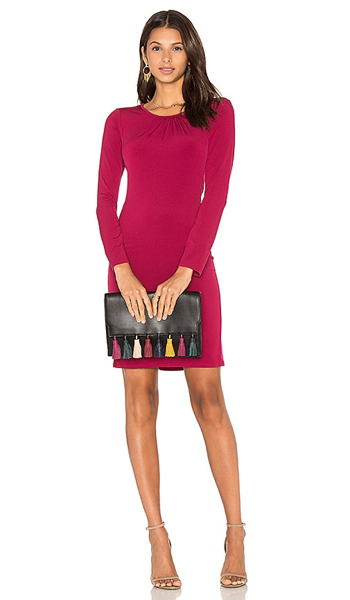 Velvet by Graham & Spencer Hester Long Sleeve Bodycon Dress in Fuchsia