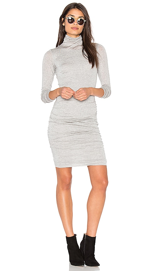 Velvet by Graham & Spencer Lordes Midi Dress in Light Gray