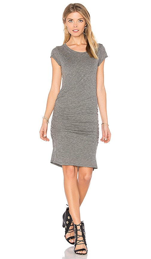 Velvet by Graham & Spencer Ciroc Ruched Midi Dress in Gray