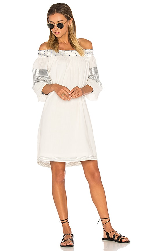 Velvet by Graham & Spencer Deandria Off Shoulder Dress in White