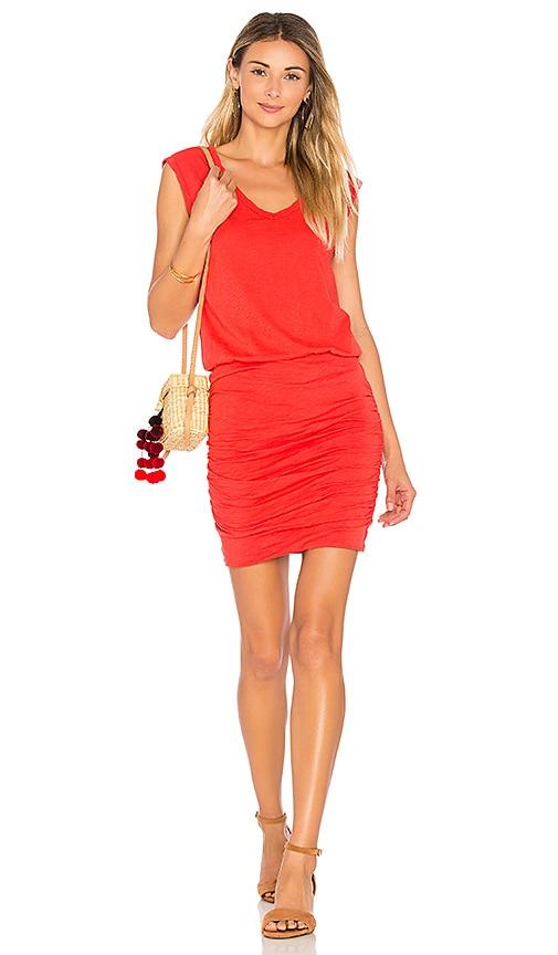 Velvet by Graham & Spencer Bardot Dress in Red