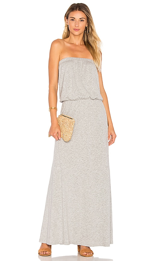Velvet by Graham & Spencer Fion Strapless Maxi Dress in Gray