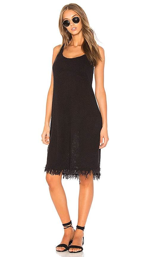 Velvet by Graham & Spencer Meg Crochet Tank Dress in Black