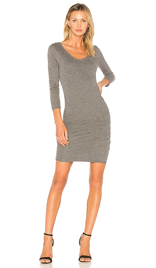 Velvet by Graham & Spencer Kesha Midi Dress in Gray