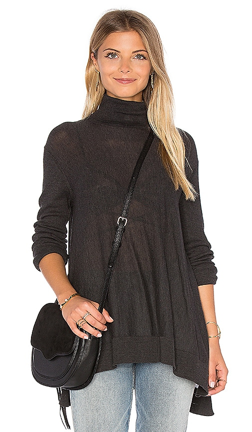 Velvet by Graham & Spencer Fae Turtleneck Sweater in Charcoal