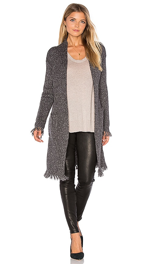 Velvet by Graham & Spencer Grahm Long Sleeve Cardigan in Gray