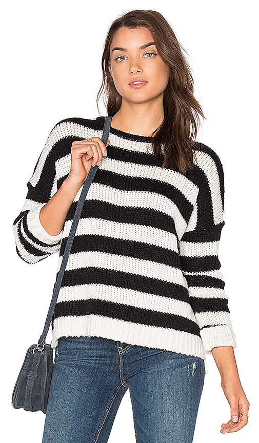 Velvet by Graham & Spencer Maddilyn Sweater in Black & White