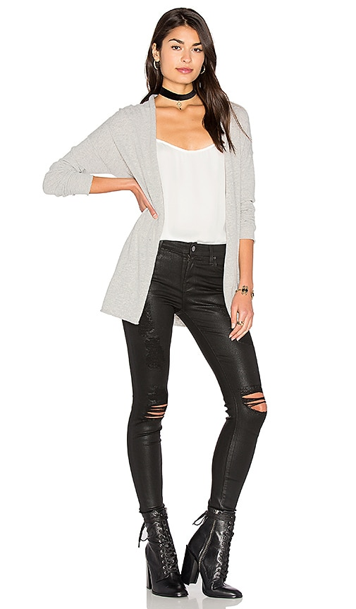 Velvet by Graham & Spencer Desiree Cardigan in Gray