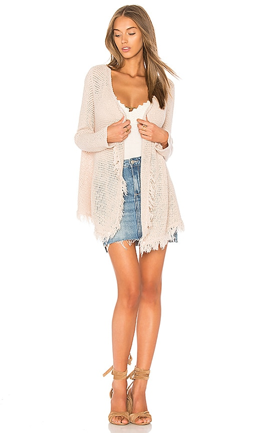 Velvet by Graham & Spencer Floran Crochet Cardigan in Pink