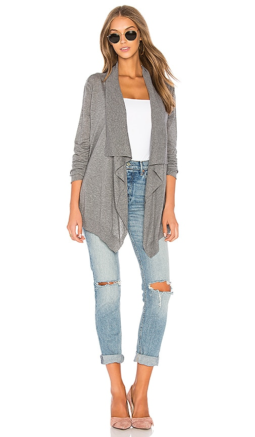 Velvet by Graham & Spencer Frannie Cardigan in Gray