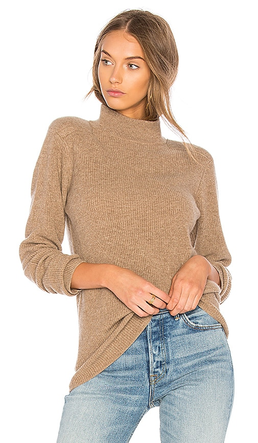 Velvet by Graham & Spencer Bailee Turtle Neck Sweater in Brown