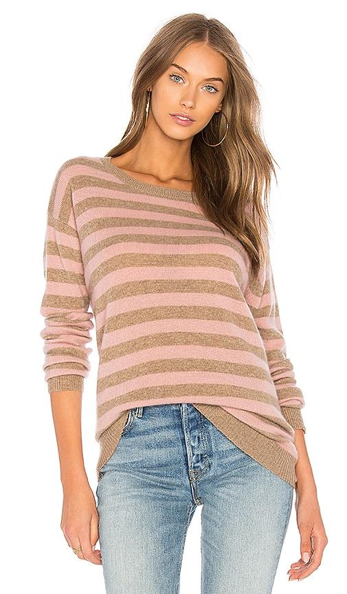 Velvet by Graham & Spencer Cath Striped Sweater in Tan