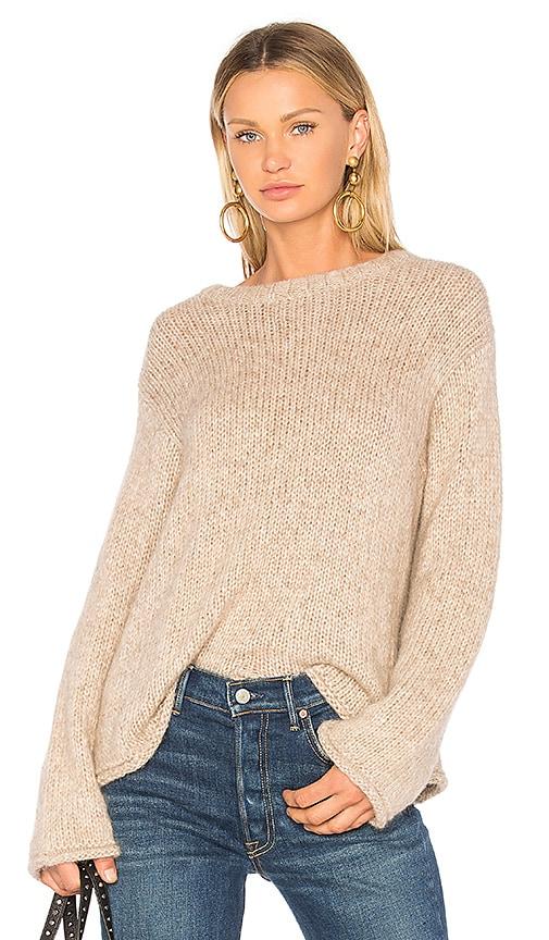 Velvet by Graham & Spencer Byrdie Sweater in Brown