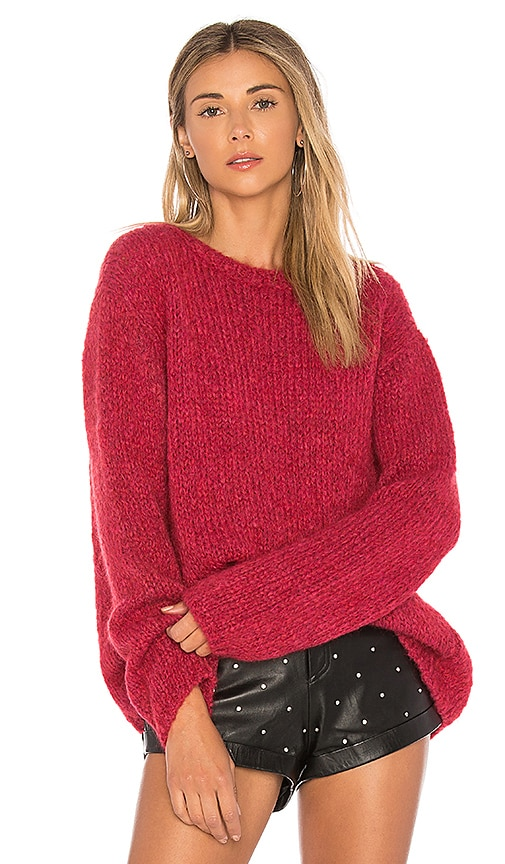 Velvet by Graham & Spencer Louisa Chunky Sweater in Red