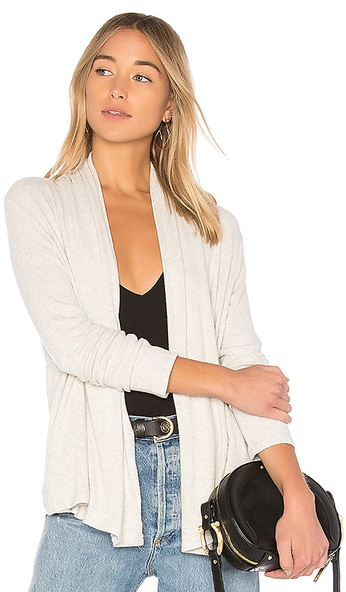 Velvet by Graham & Spencer Krystine Cardigan in Light Gray