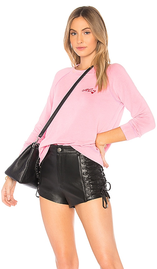 Velvet by Graham & Spencer Marleigh Sweatshirt in Pink