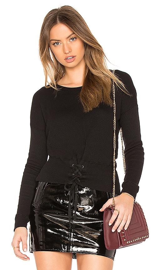 Velvet by Graham & Spencer Audrina Sweatshirt in Black