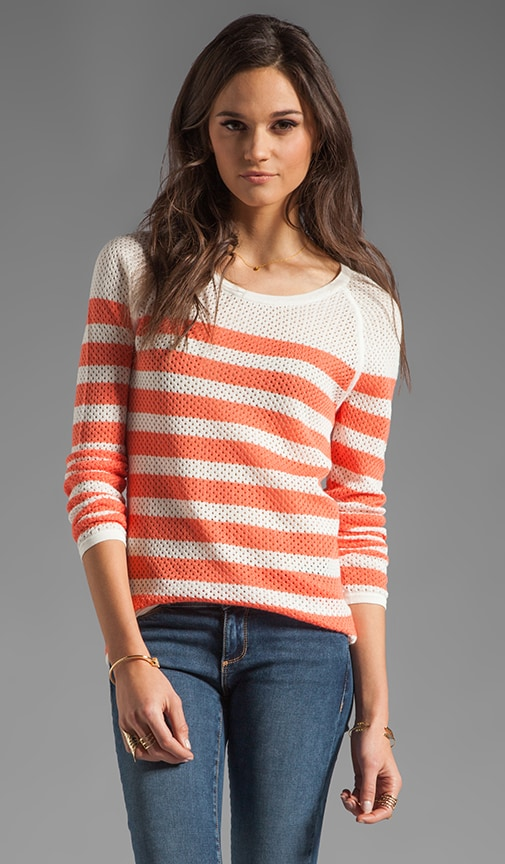 Mesh Stripe Yurel Sweater