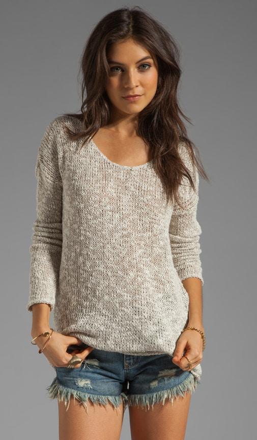 x Lily Aldridge Saffron Marled Linen Sweater