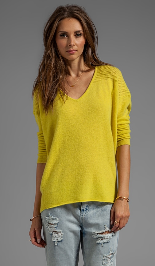 Clare Cashmere Classic Long Sleeve V-Neck