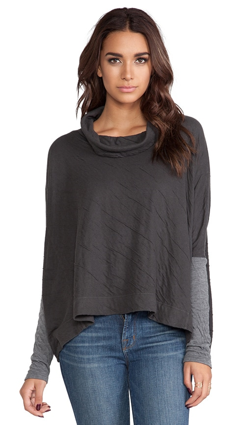 Camilla Dual Sweater Knit w/ Cowl Neck