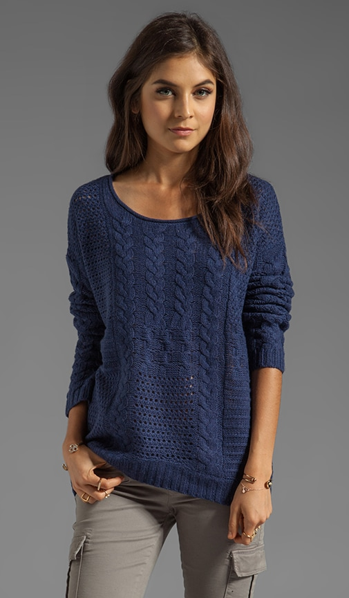 Jacinda Patchwork Cable Loose Pullover