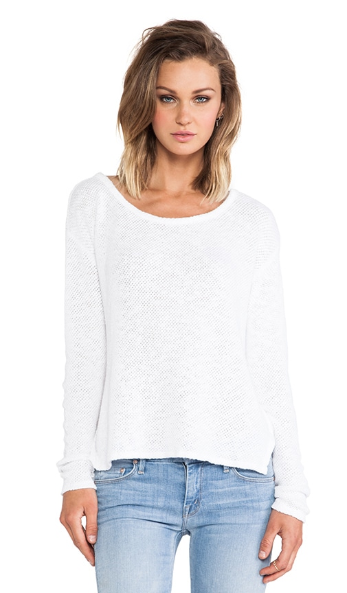 Peta Cotton Crochet Sweater