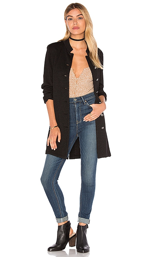 Velvet by Graham & Spencer Evalyn Button Up Jacket in Black