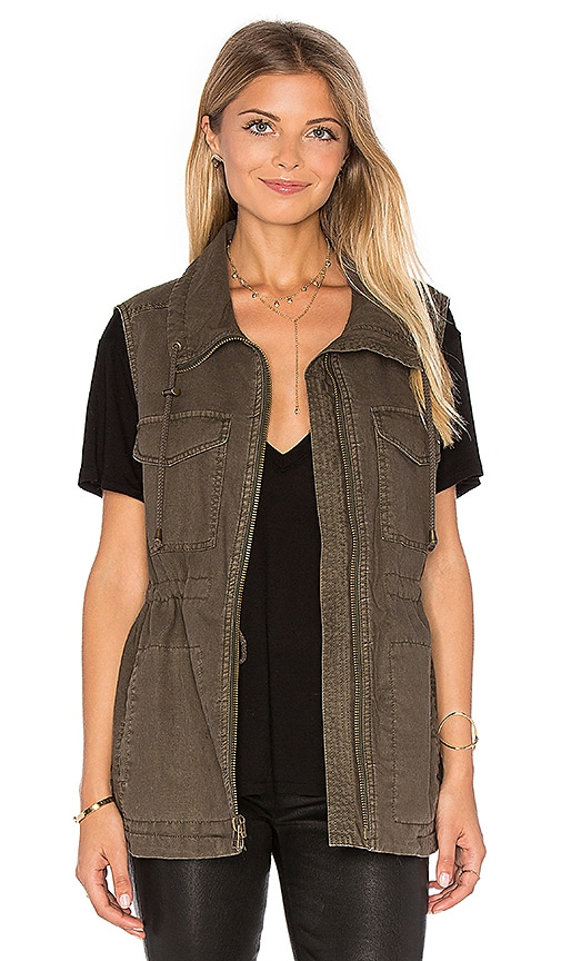 Velvet by Graham & Spencer Waylin Vest in Olive