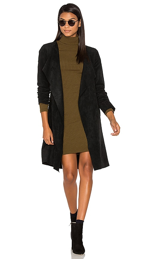 Velvet by Graham & Spencer Aubrey Suede Wrap Jacket in Black