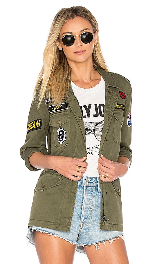 Velvet by Graham & Spencer Andreea Military Jacket in Army