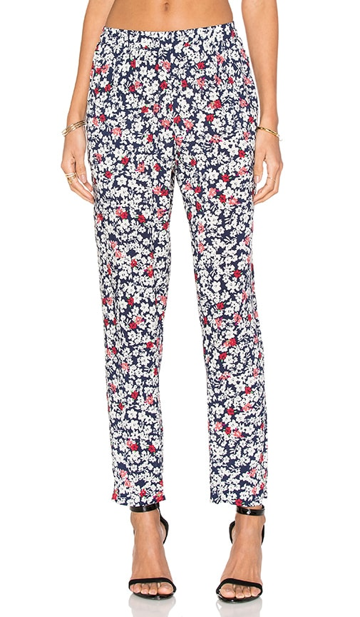 Velvet by Graham & Spencer Ellaria Dahlia Print Pant in Multi