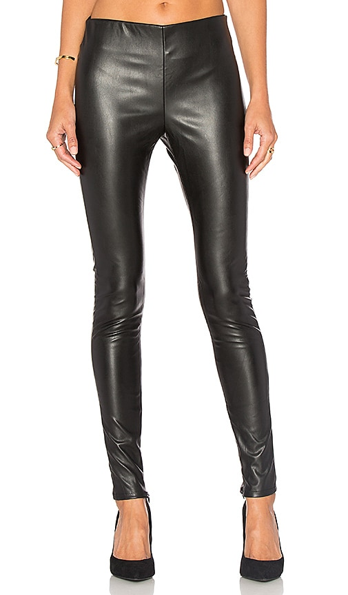 Velvet by Graham & Spencer Berdine Faux Leather Legging in Black