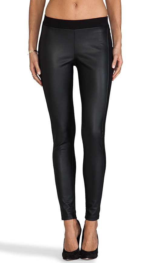 Leticia Ponti w/ Faux Leather Legging