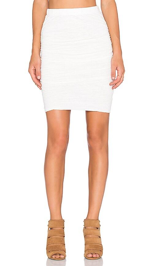 Velvet by Graham & Spencer Larsa Soft Texture Knit Skirt in Off White