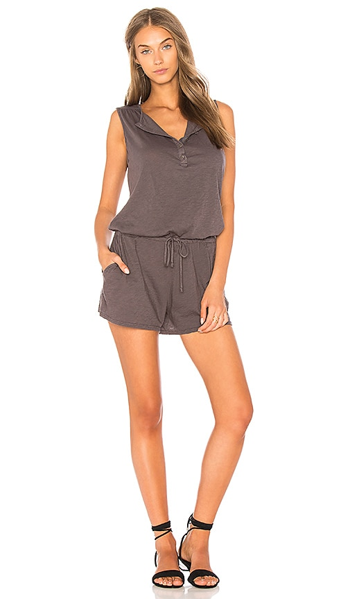Velvet by Graham & Spencer Onna Romper in Gray