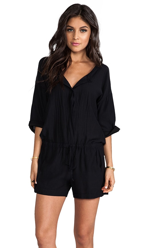 Lily Aldridge for Velvet Tracey Cotton Sateen Romper