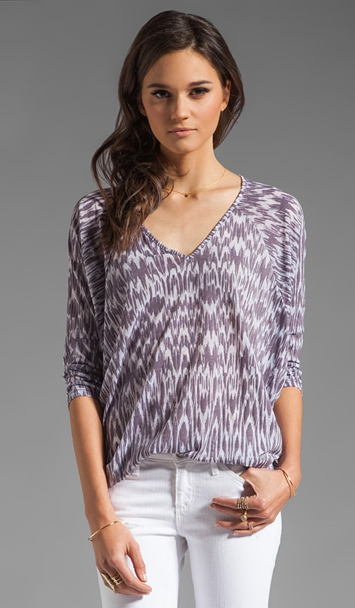 Ikat Burnout Georgina Long Sleeve Top