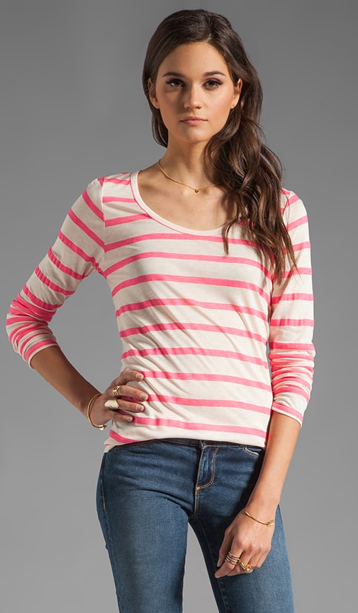 Resort Stripe Minerva Long Sleeve Top