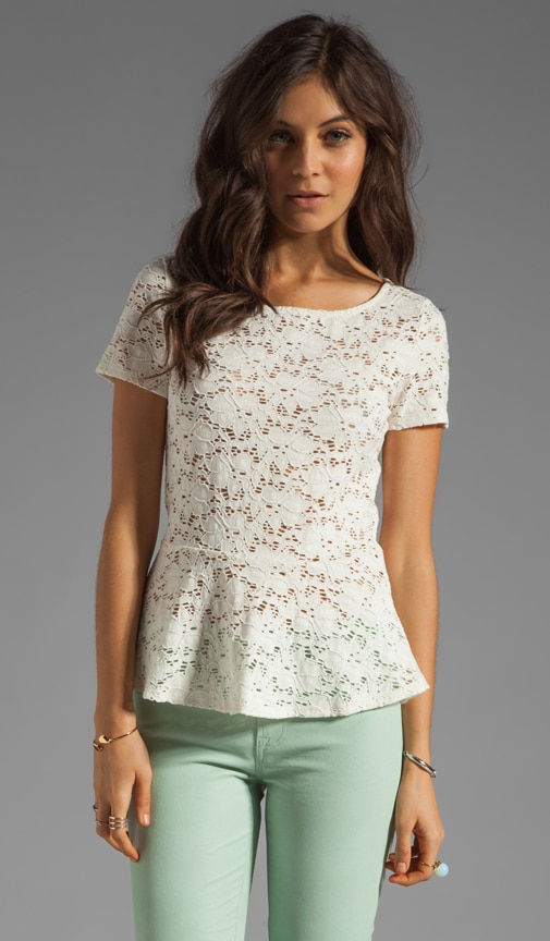 Ruthie Stretch Lace Peplum Top