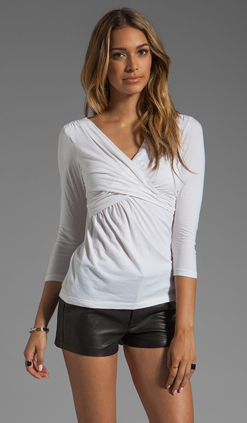Nancy Gauzy Whisper Wrap Top