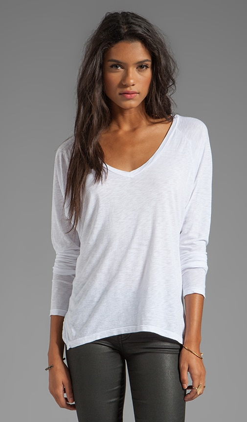 Gala Lux Slub Long Sleeve V-Neck