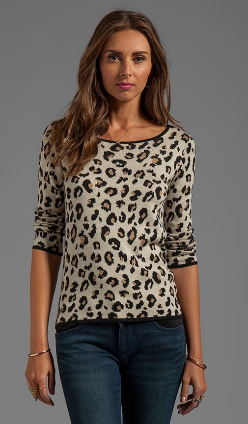 Lovey Leopard Jacquard Long Sleeve Tee
